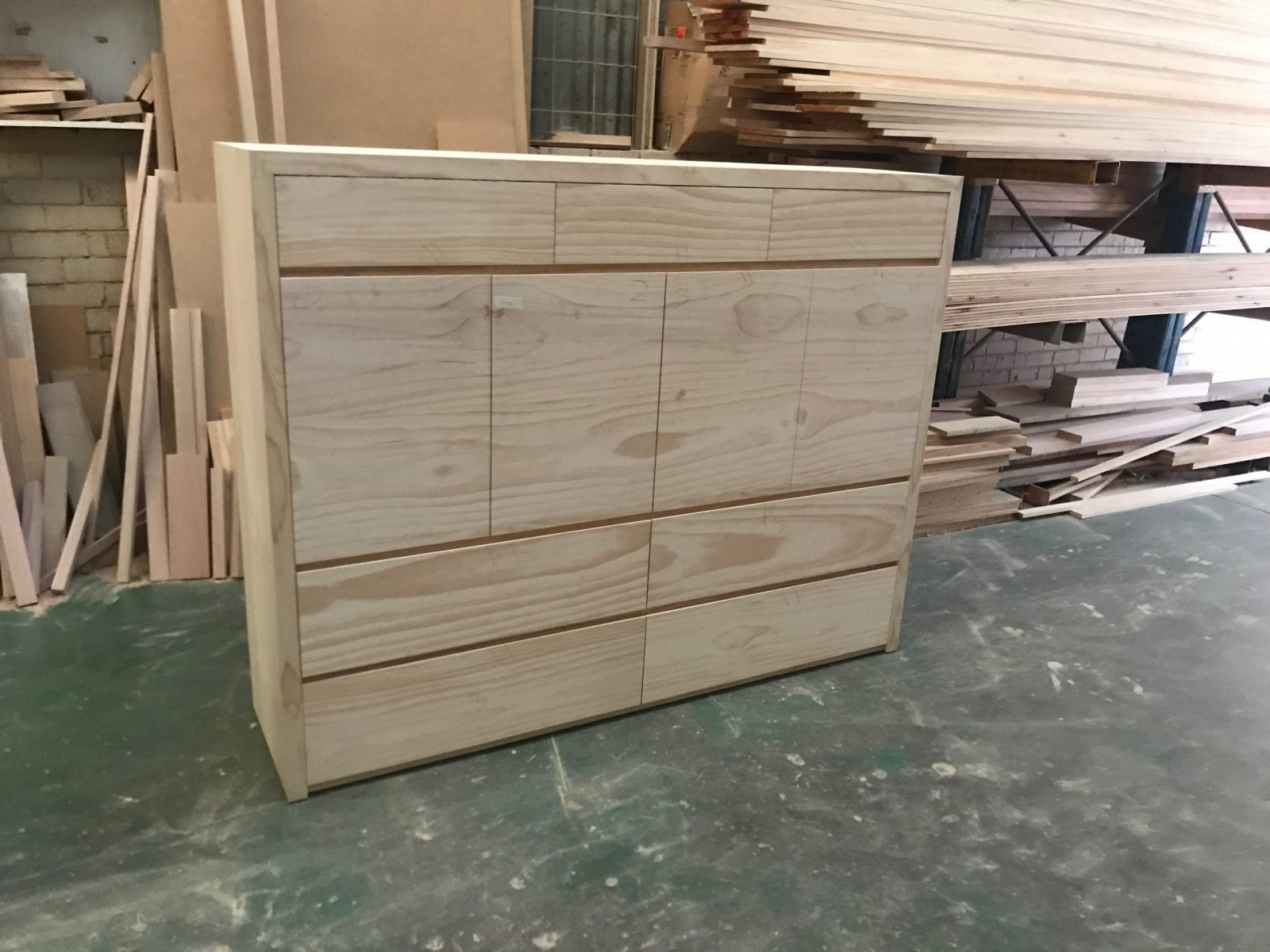 Custom dresser from timber - George Koutalas Bedworks