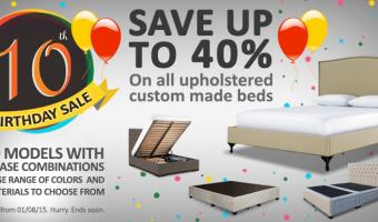Custom Made Upholstered Bed Frames Sale