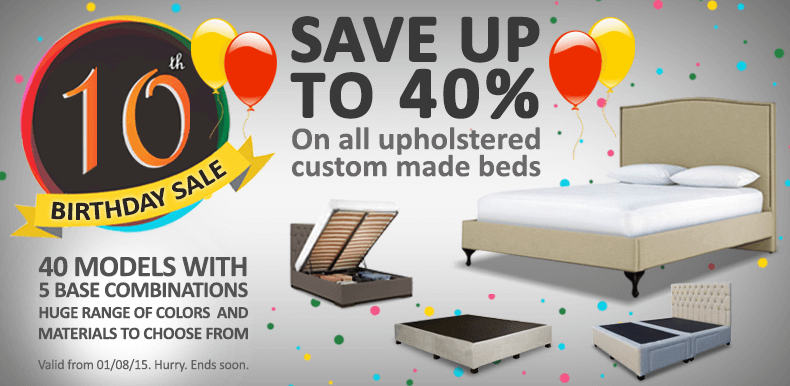 Custom Made Upholstered Bed Frames Sale