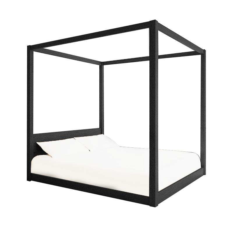2017-black timber-trend-sunny-custom-fourposter-bed