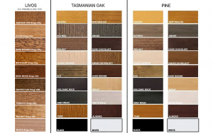 Bedworks Custom Timber Bed Colour Options